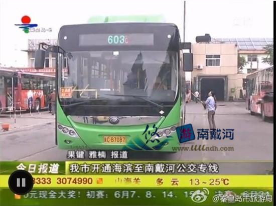 南戴河603路公交车